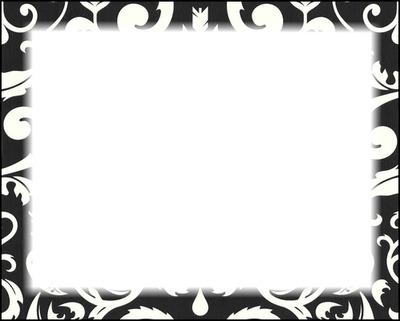 cadre noir et blanc