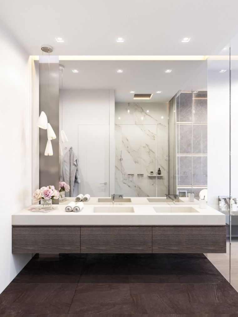 grand miroir salle de bain