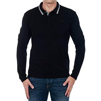 polo noir homme