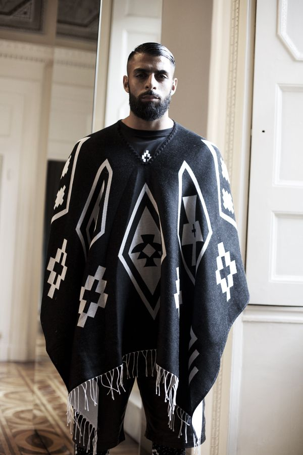 poncho homme