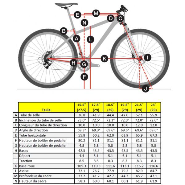 taille vélo 26 pouces