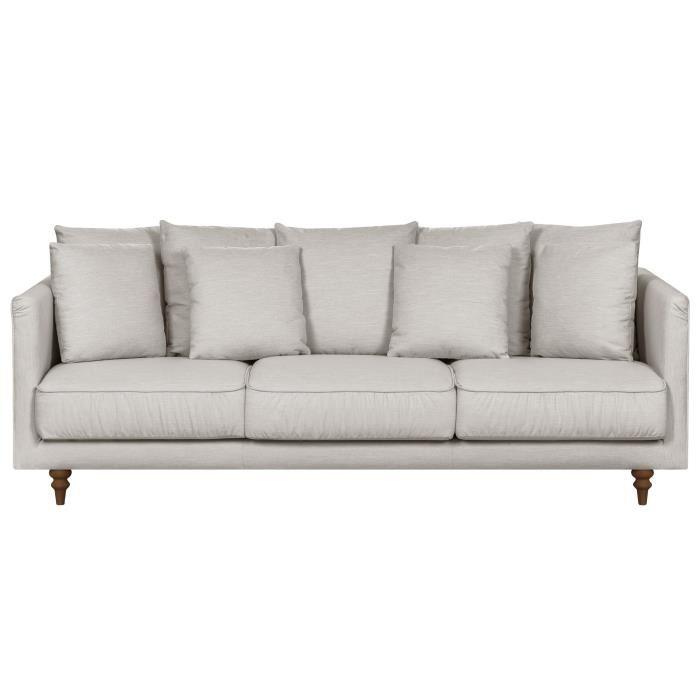 canapé tissu blanc