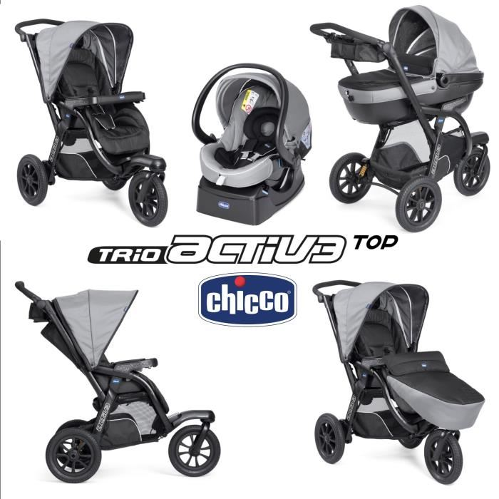 poussette chicco 3 roues