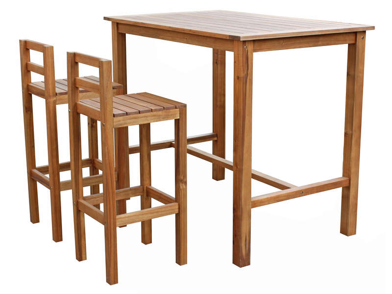table haute et chaise