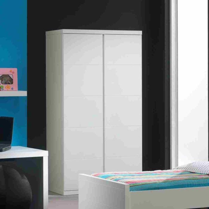 armoire laqué blanc