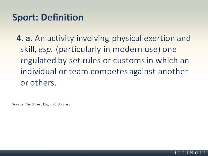 définition de sport