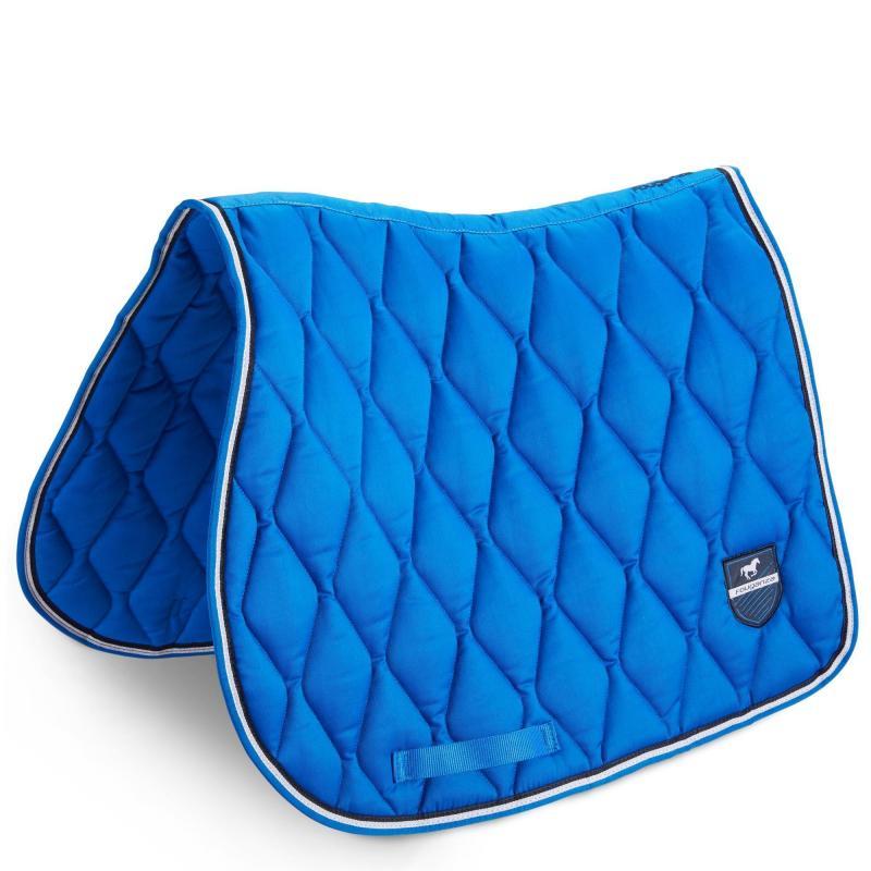 tapis de selle bleu