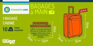 transavia valise cabine