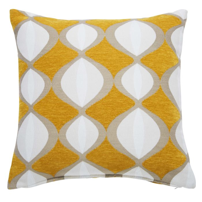 coussin jaune moutarde