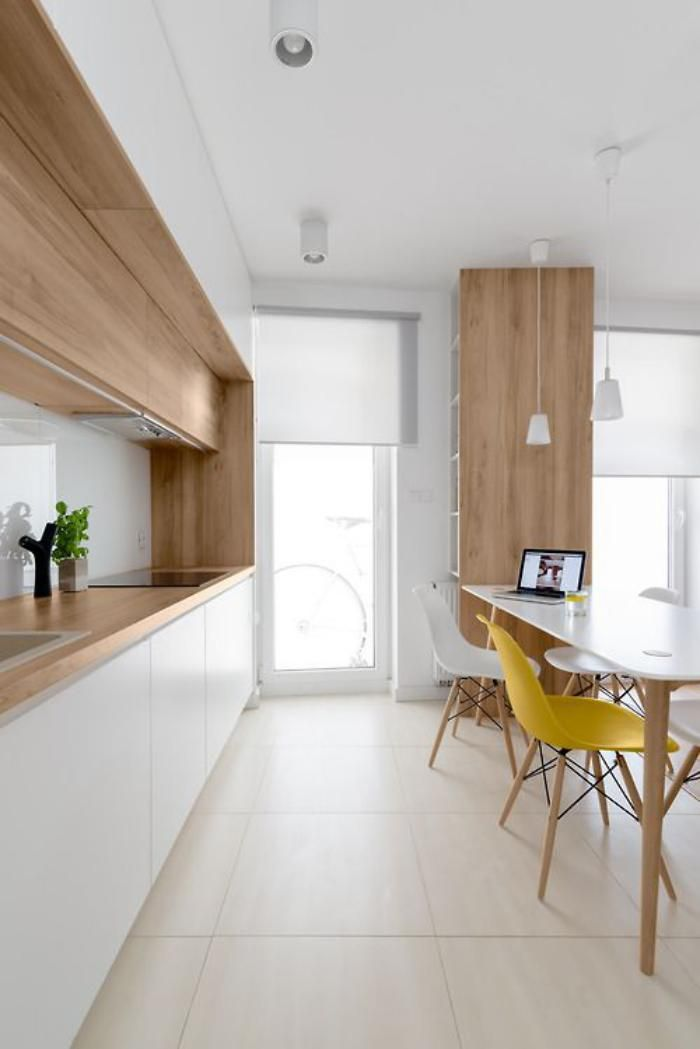cuisine blanche et bois