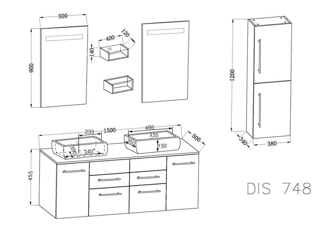 dimension meuble salle de bain