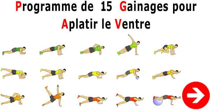 exercice pour perdre du ventre