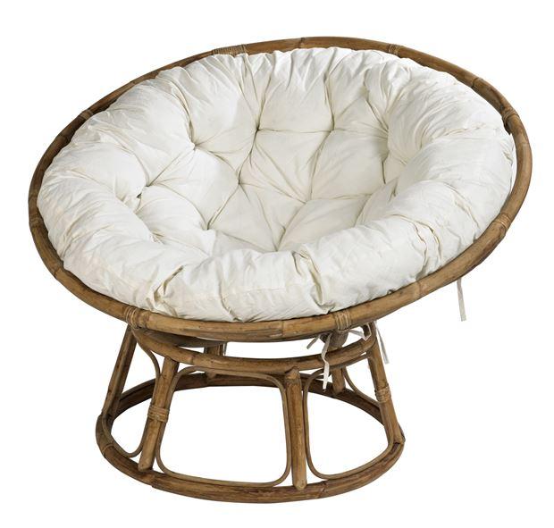 fauteuil osier rond