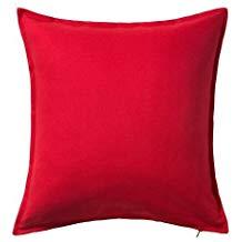 housse de coussin rouge