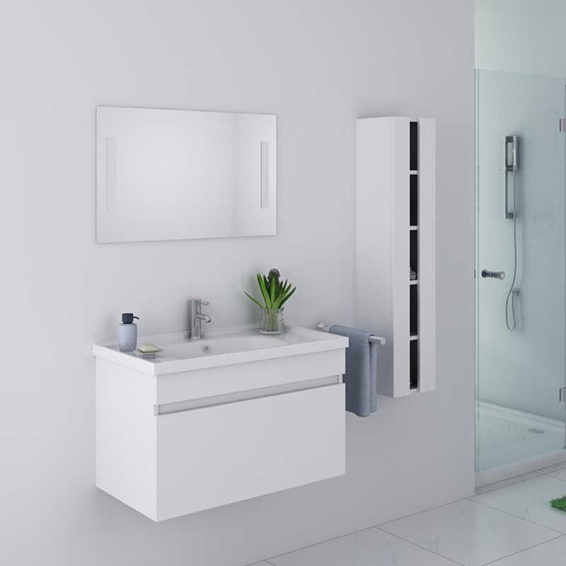 meuble de salle de bain blanc