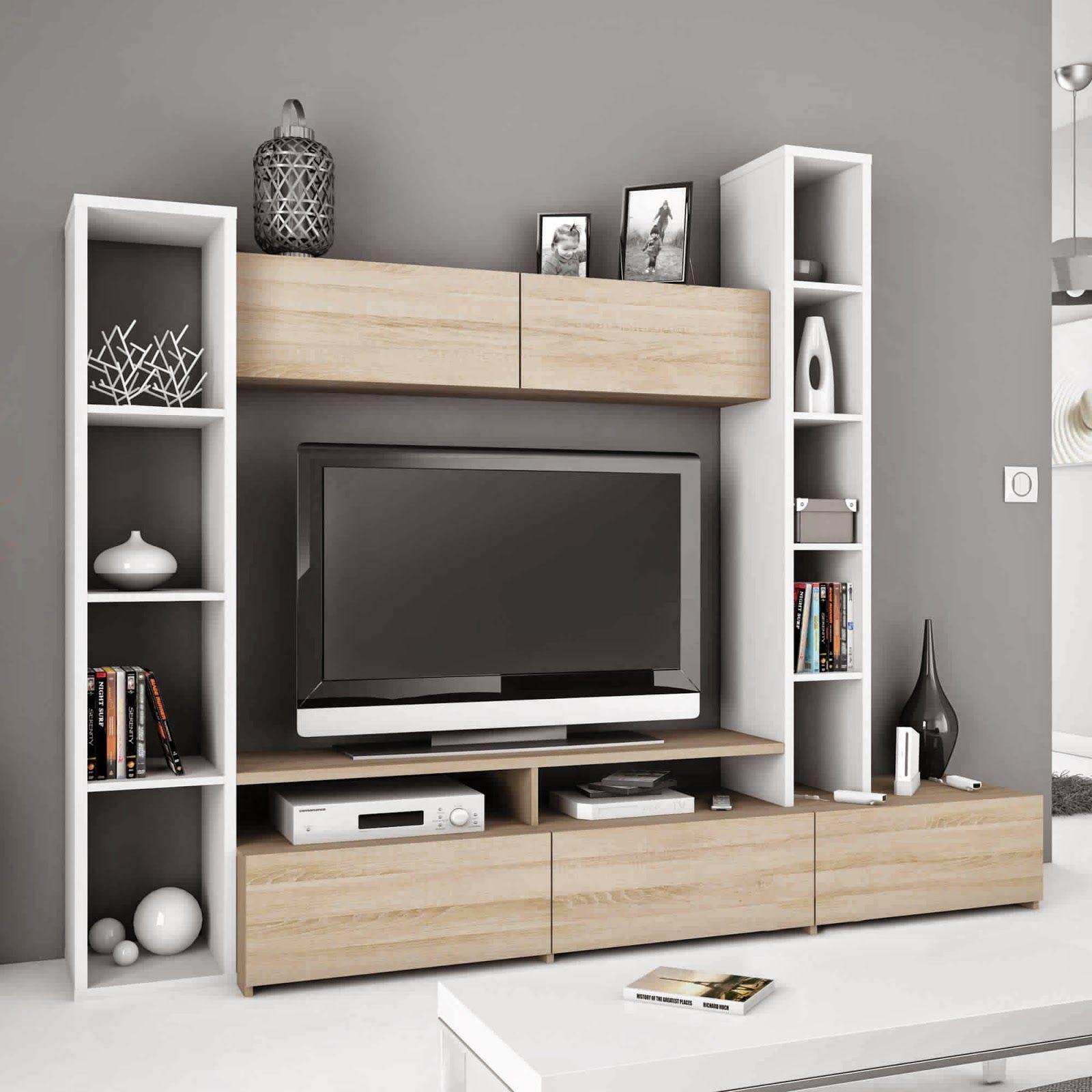 meuble tele avec rangement