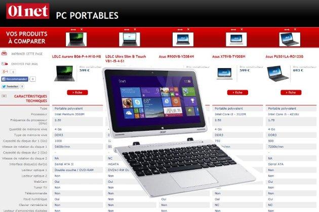 ordinateur portable comparatif