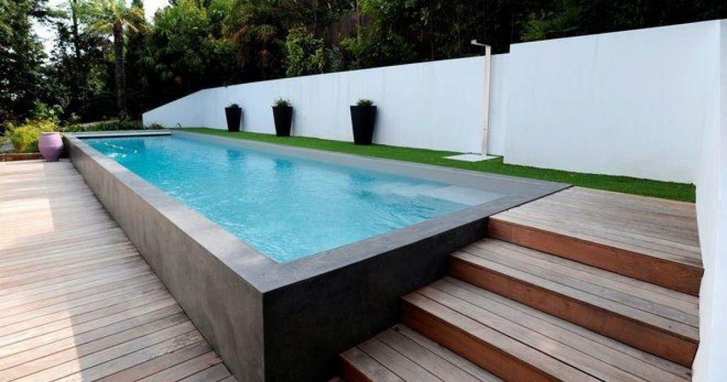 piscine semi enterrée acier