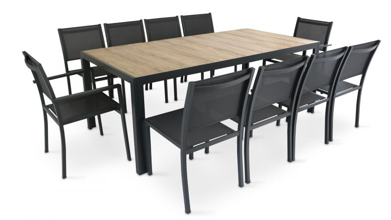 table jardin aluminium