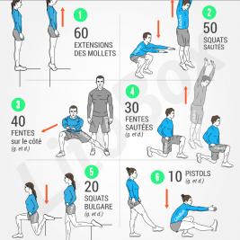 exercice bas du corps