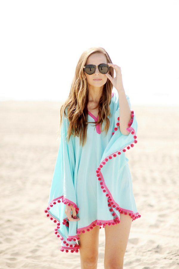 poncho de plage femme